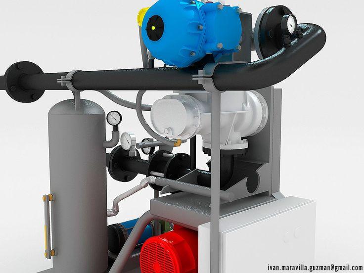 3d VIZ, maquinaria industrial CGI