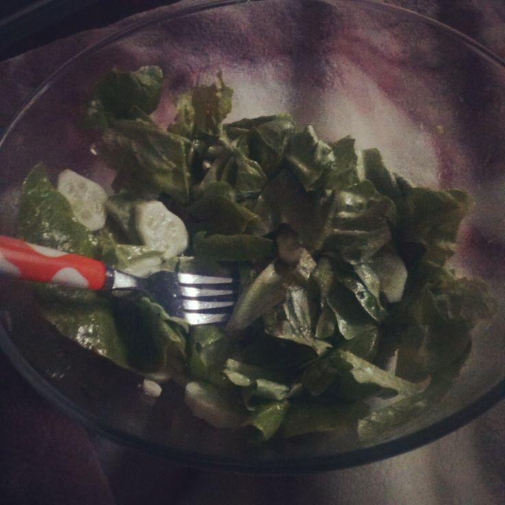 Salata verde,spanac si castravete