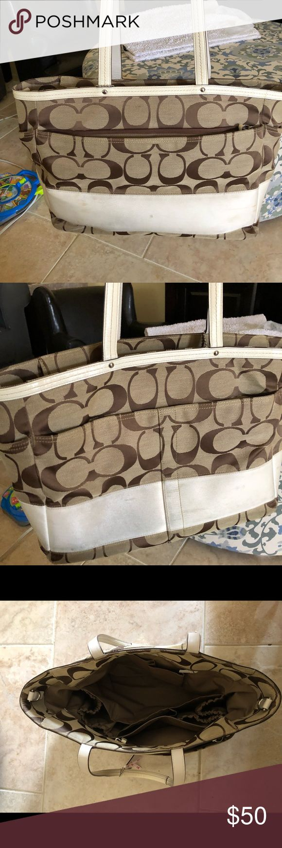 Coach Diaper Bag Coach diaper bag used as a work bag... no changing pad included. Coach Bags Baby Bags