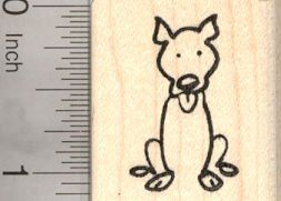 Amazon.com: Pitbull Dog Stick Figure Rubber Stamp: Arts, Crafts ...
