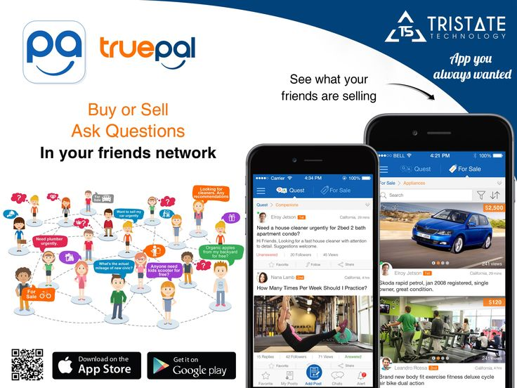TruePal is the network of friends where friends can Buy/Sell or Ask questions, TruePal brings you all friends together so you are always there when your friend needs you most.