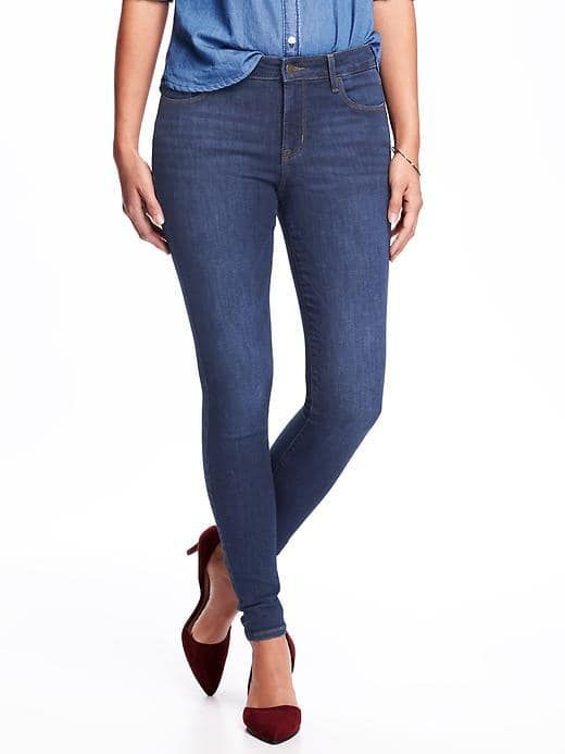 Current fave Old Navy Jeans - Mid-Rise Super-Soft Skinny Rockstar Jeans for Women