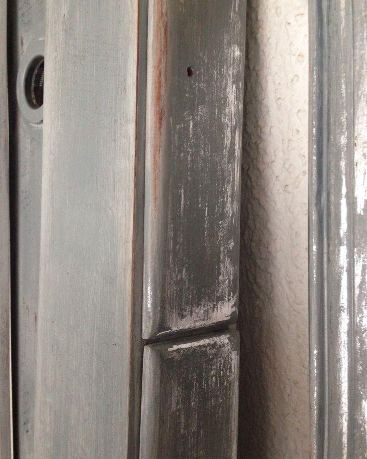 Detalle patina plateada y gris