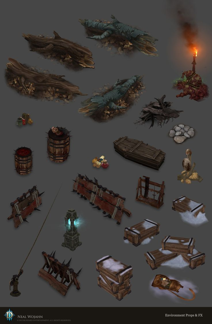 ArtStation - Diablo 3 Environment Props and FX, Neal Wojahn