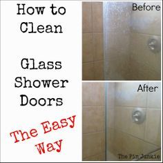 1000 Ideas About Cleaning Shower Doors On Pinterest