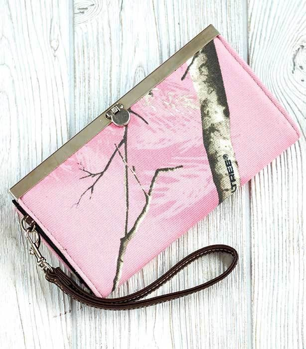 AUTHENTIC REAL TREE Camouflage Women's Pink Camo Slim Wallet NEW! FREE SHIPPING! #realtree