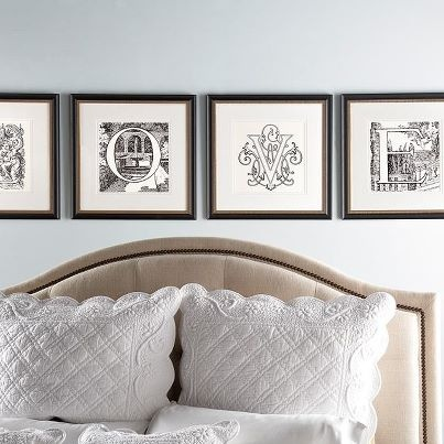 Spell out some romance or any other sweet sentiment in your favorite room using · frames decorframed