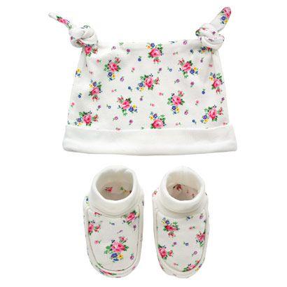 Hankie Rose Kids Hat & Bootie Gift Set