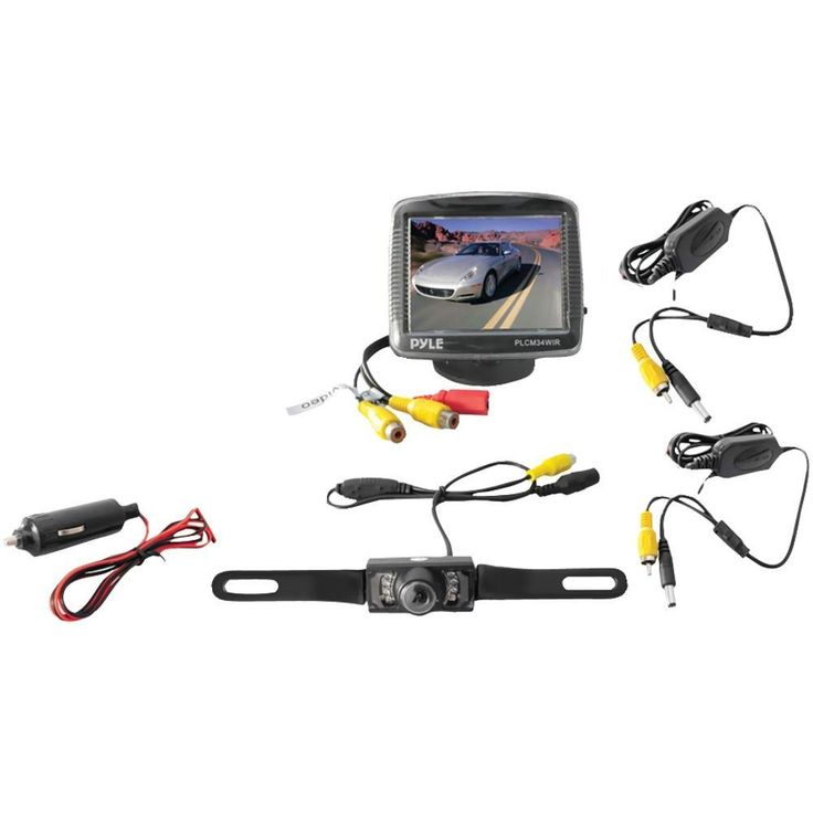 PYLE PLCM34WIR 3.5 Wireless Backup Camera & Monitor System with Night Vision
