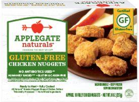 Gluten free chicken nuggets by Applegate Naturals