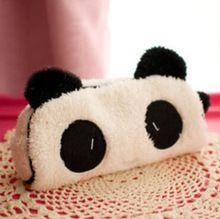 Lindo de la historieta de Kawaii Panda de la felpa caja de lápices preciosa pluma caso papelería corea útiles escolares para KidsFree libre 10012(China (Mainland))