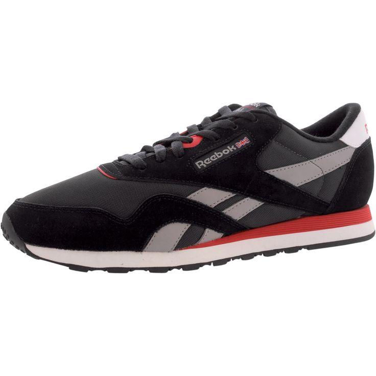 Reebok - Men's Classic Nylon Sneakers - Black/Silver/Red http://www.95gallery.com/