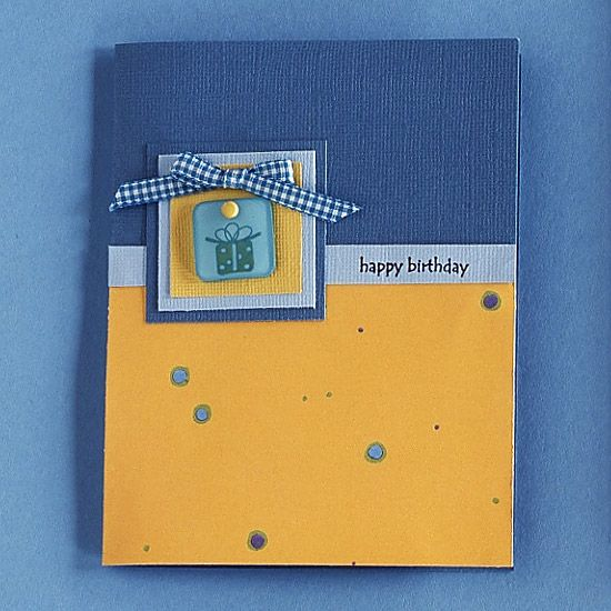 Blue is for Boys Birthday Card