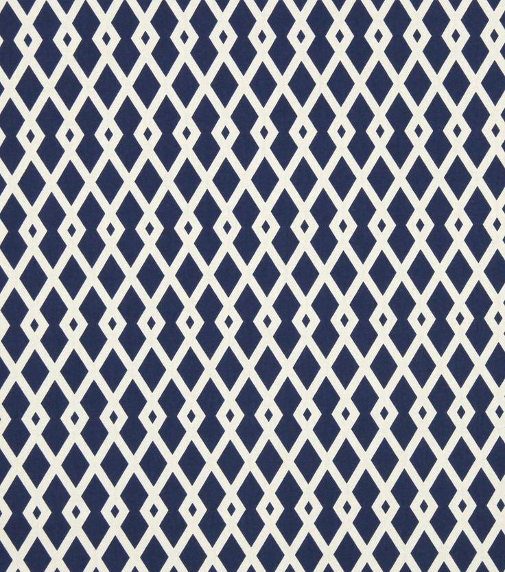 Upholstery Fabric-Robert Allen Graphic Fret Ultramarine