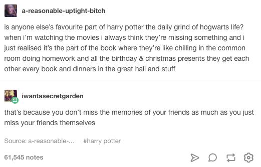daily grind at Hogwarts
