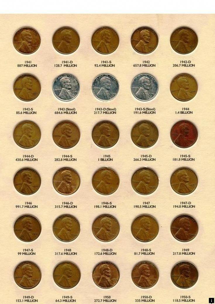 1941-1958 WHEAT LINCOLN PENNY CENT SET W// WHITMAN FOLDER
