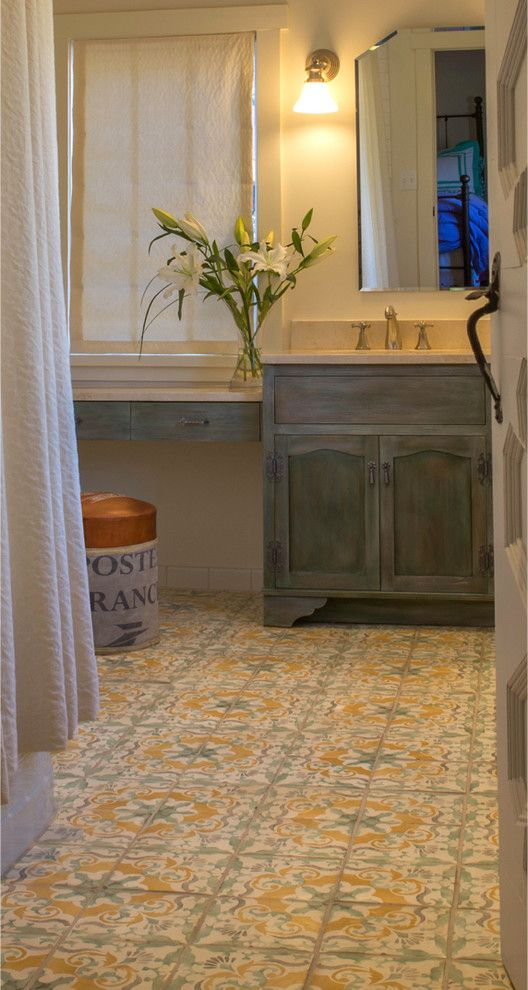 Photographic Gallery Such pretty colors in the bathroom Tile by Statements In Tile Lighting Kitchens Flooring based in Santa Fe