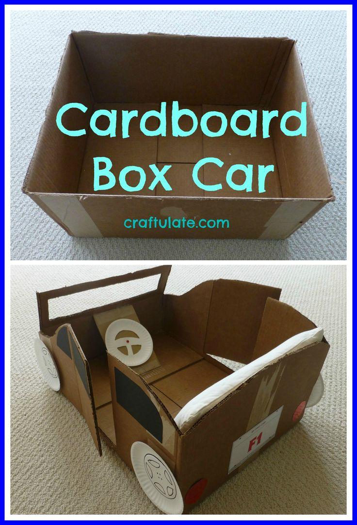 Coche a partir de caja carton