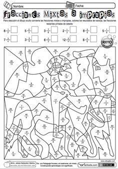 Jesús González Molina de la Escuela Primaria Vicente Guerrero, desde Los Placeres del Oro, Guerrero, México, comparte una ficha para pasar de fracciones mixtas a impropias. También dispones de otra...