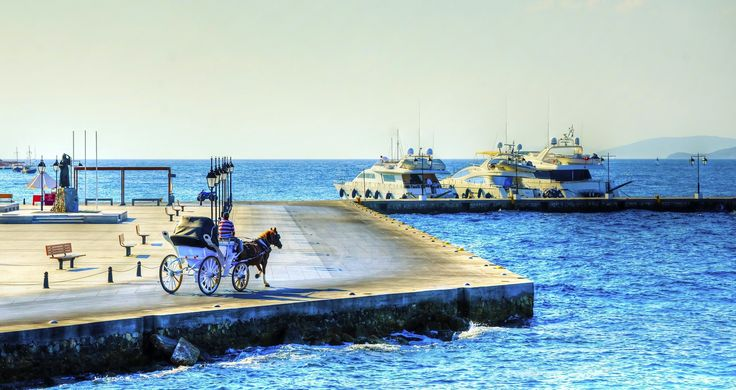 Horse carriage on the port of Spetses