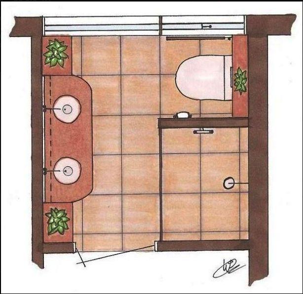 plattegrond kleine badkamer