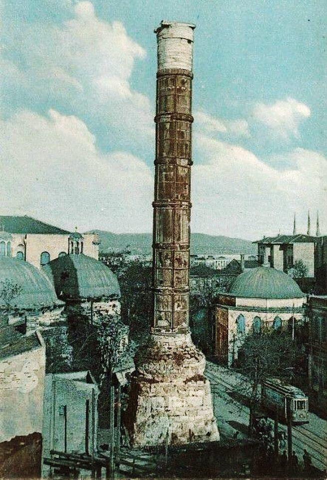 Column of Constantine (1956) istanbul Turkey