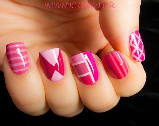 cute, fashion, nails, pink
