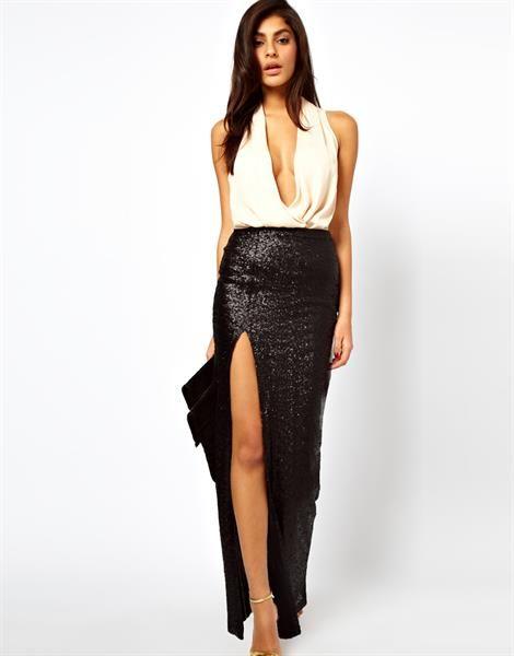 Платье длинная юбка с разрезом