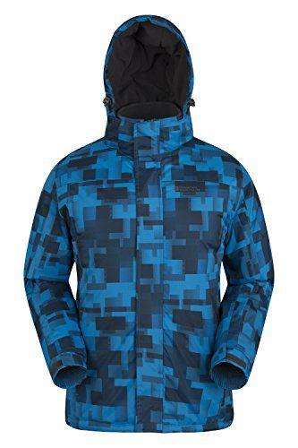 #Mountain Warehouse Shadow Skijacke Herren mit Aufdruck Blau X-Small, 05052776254311