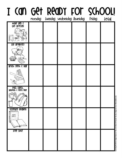 ready for school checklist---i want to make a modified version of this for Jack come September :)