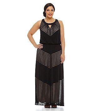 plus size black dresses dillards