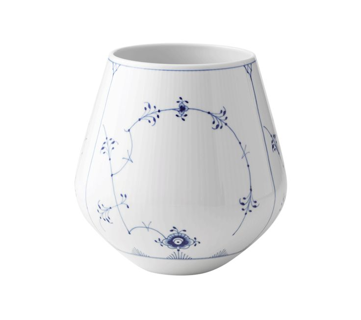Musselmalet Riflet Vase, stor