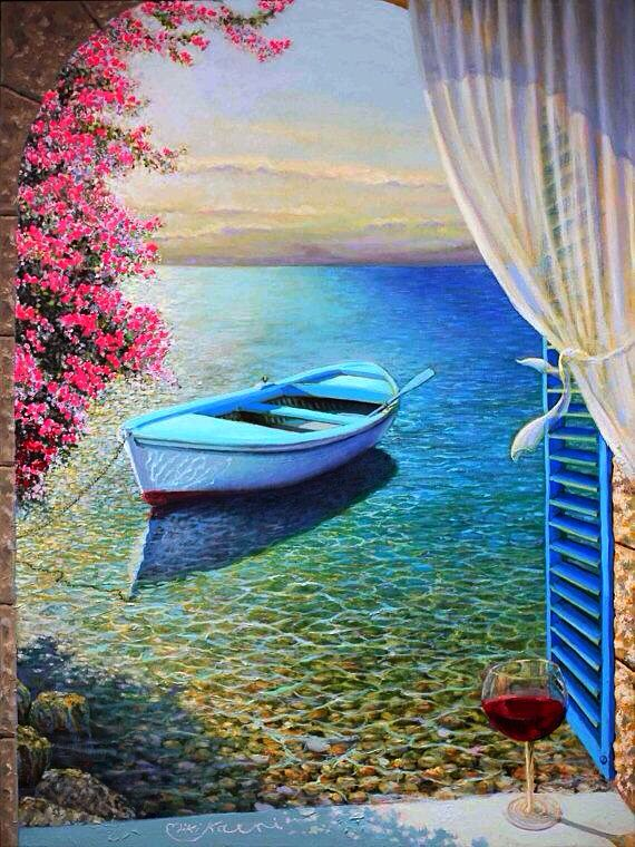 "I Lean Out Of The Window And The  Breeze Brings To Me . .""The Poem Of The Mediterranean Sea "" ~ Miki Karni"