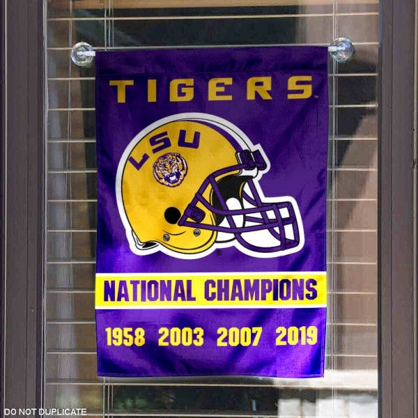 Louisiana State University 2019 And 4 Time Champions Double Sided Garden Flag In 2020 Lsu Tigers Football Lsu Tigers Louisiana State University