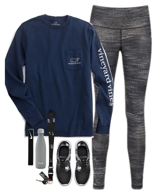 """read the d y'all"" by smbprep ❤ liked on Polyvore featuring adidas, Vineyard Vines, NIKE and S'well"