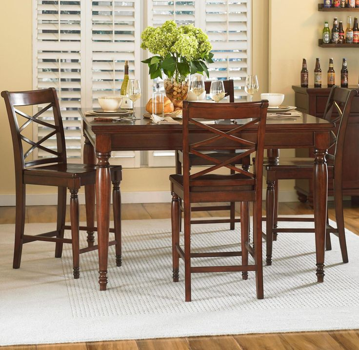 Cambridge, Cambridge Rectangular Counter Height Leg Table Dining Room Set, Dining  Room Table Sets, Bedroom Furniture, Curio Cabinets And Solid Wood ...