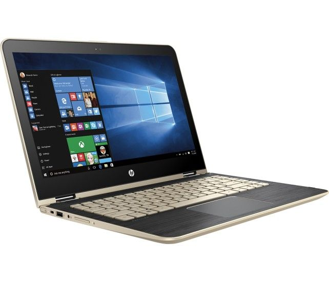 """HP - Pavilion x360 2-in-1 13.3"""" Touch-Screen Laptop - Intel Core i5 - 8GB Memory - 128GB Solid State Drive - Modern Gold - Angle Zoom"""