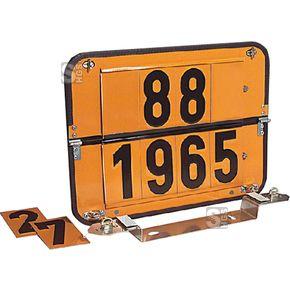 Zifferntafel für Tankfahrzeuge, starr, Komplett-Satz gem. ADR und GGVS  #Warnmarkierungstafel #Gefahrgutkennzeichnung #Warntafel #Zifferntafel