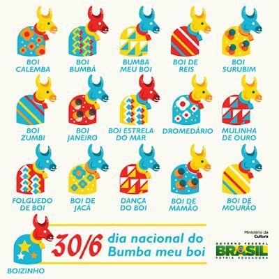 """""""Brasil, meu Brasil Brasileiro"""": Nossa Pátria - FOLCLORE BRASILEIRO -  30 de Junho, Dia do Bumba Meu Boi"""