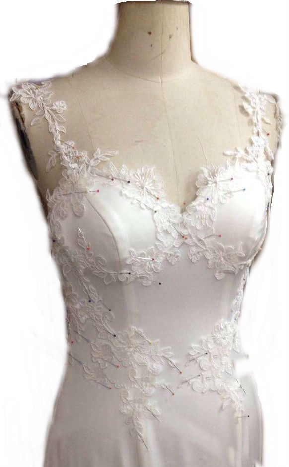 lace pined on