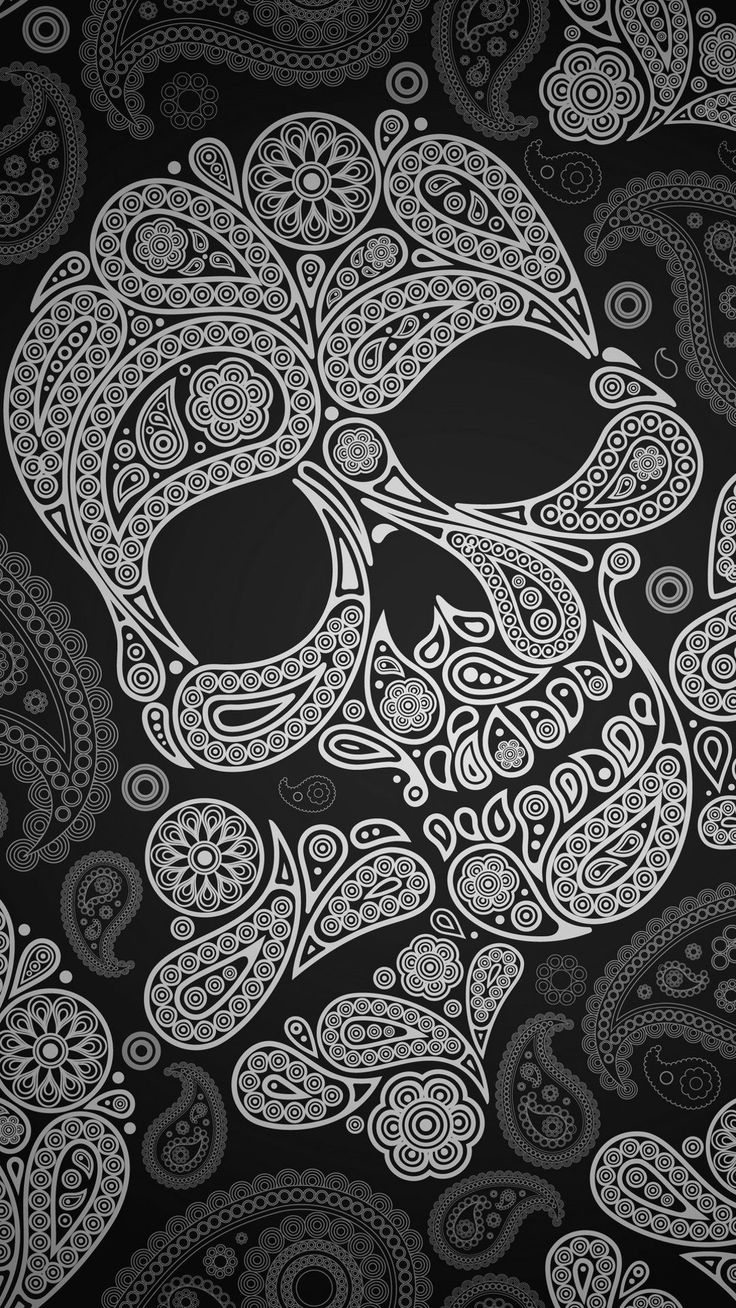 tap and get the free app hard skull black paisley