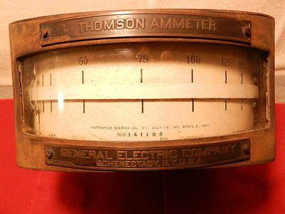 1901 Thomson Ammeter General Electric Ge Vintage Iron Electronics Steampunk