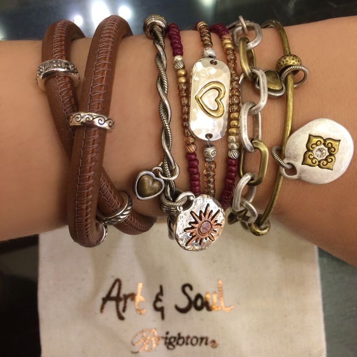 Mix and match your favorite Brighton Art & Soul Bracelets and Bangles.