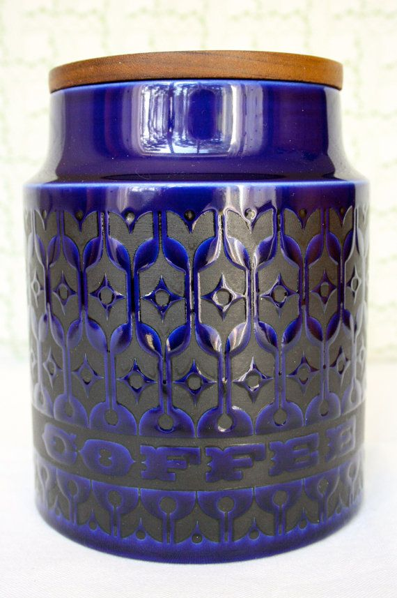Vintage Hornsea Pottery Storage Jar in Blue by SomethingPrized, £12.00