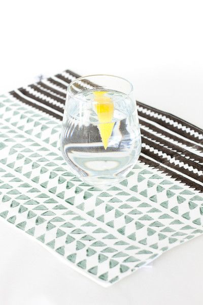 Hand block printed ethical blue Placemat | The Woven Trail