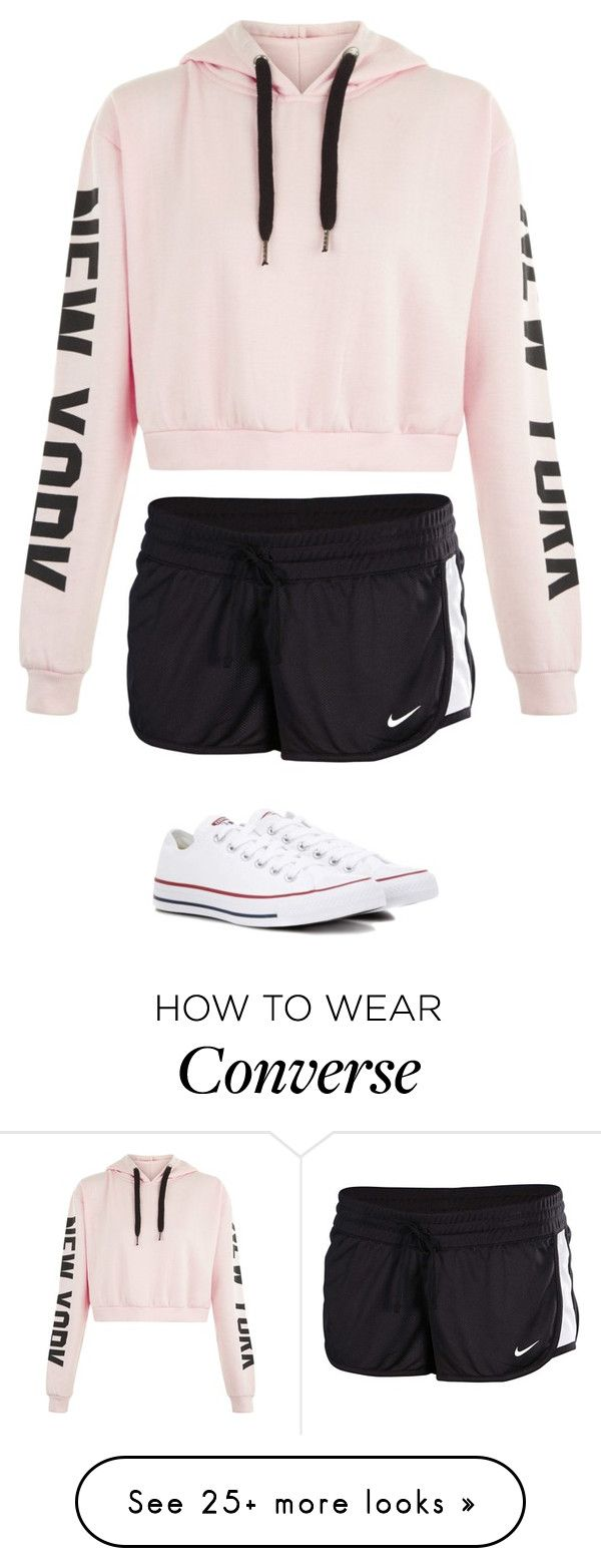 """Untitled #2789"" by laurenatria11 on Polyvore featuring NIKE and Converse"