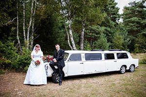 Weiße #Hochzeitslimousine #Trabi Limo