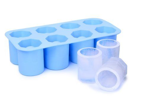 Ivation Silicone ICE Shot-Glass Mold, Tray of 8 - Can Also be Used as Jelly Tray or Chocolate Mold - Made of Food-Grade Silicon - Sky Blue, http://www.amazon.com/dp/B00JZQEHUY/ref=cm_sw_r_pi_awdm_7Id4tb11JTER5