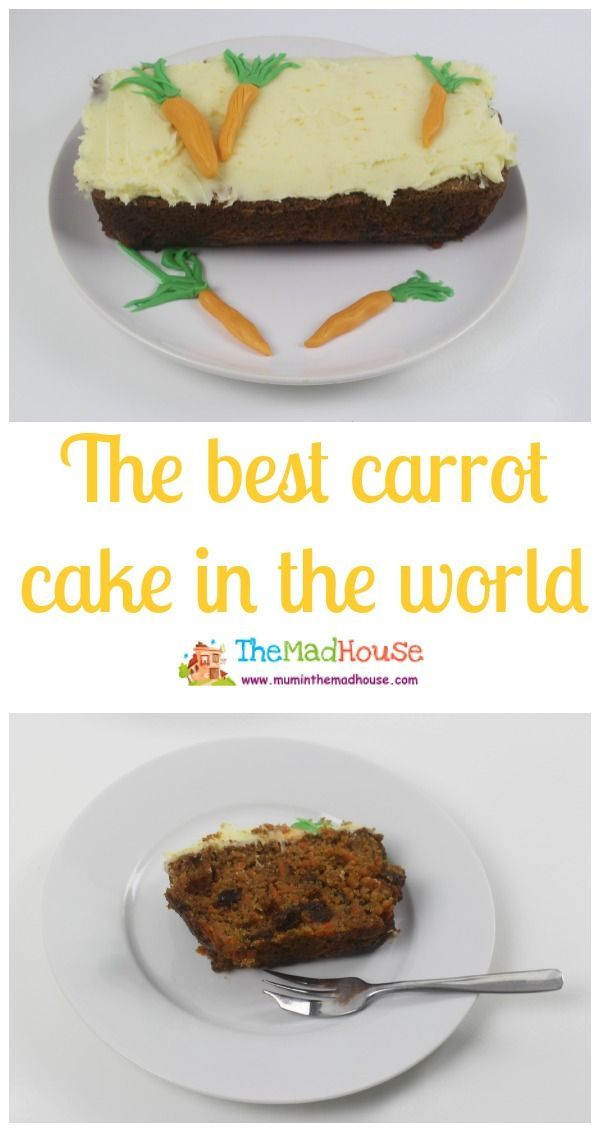 The best carrot cake in the world - who dooesnt love carot cake and this simple, but delicious recipe is packed with carrots.  It is a great way to get kids to eat more veg and it has a delicious cream cheese frosting too