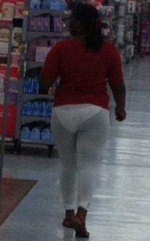 See Through White Leggings and White Panties at Walmart